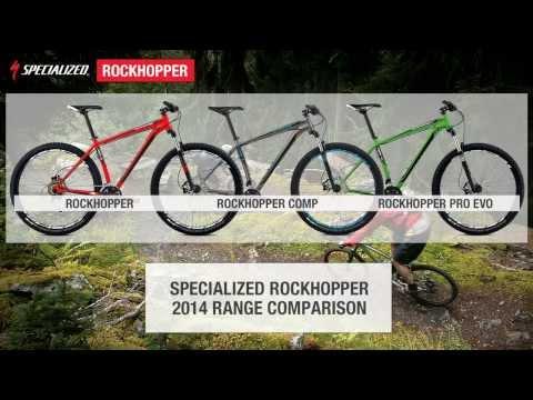 2014 Specialized Rockhopper range comparison.