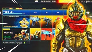 Tier 100 UNLOCKED in the Black Market.. (Black Ops 4 New DLC Weapons + Camos)