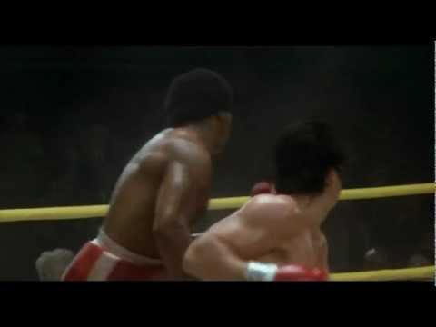 """Scena finale del film """"Rocky II"""", drammatico del 1979, con Sylvester Stallone (Rocky Balboa), Talia Shire, Burt Young, Carl Weathers, Burgess Meredith, Leona..."""