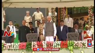 Kumaraswamy Started Oath Taking Ceremony With National Anthem | Kumaraswamy Swearing Ceremony Live