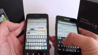 LG Optimus 2X P990 dualcore  versus  Samsung Galaxy S II dualcore