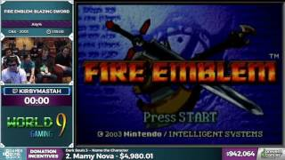 Fire Emblem: Blazing Sword by kirbymastah in 1:21:28 - Awesome Games Done Quick 2017 - Part 159