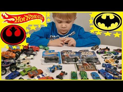 Hot Wheels Star Wars Batman Машинки Хот Вилс Звездные войны Бэтмен Распаковка