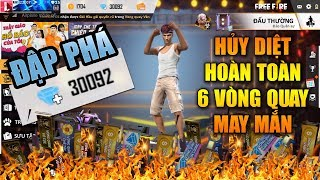 Free Fire | Hủy Diệt hoàn toàn 6 Vòng Quay May Mắn trong game với 30.000 KIM CƯƠNG | Rikaki Gaming