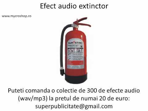 Efect Audio Stingator Incendiu Extinctor video