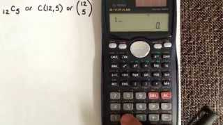 Combination using the calculator Casio fx-991MS