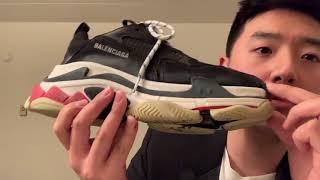 미국 발렌시아가 트리플S 3개월 사용후기 + 짧은 신발구매조언