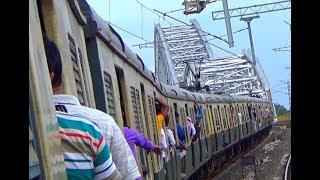 On The Way Bandel From Naihati By Train Crossing Jubilee Bridge (Sampreeti Bridge)