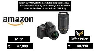 Nikon D3400 Digital Camera Kit (Black) with Lens AF-P DX Nikkor 18-55mm
