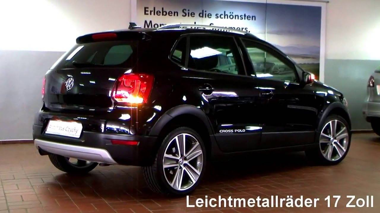 volkswagen polo cross 1 2 tsi 2011 deep black perleffekt bu008023 youtube. Black Bedroom Furniture Sets. Home Design Ideas