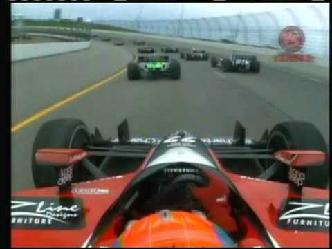 2010 Indycar Iowa - Justin Wilson and Mario Moraes crash Video