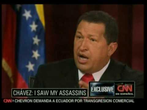 Larry King sudando en la entrevista con el Presidente Chávez 3de10