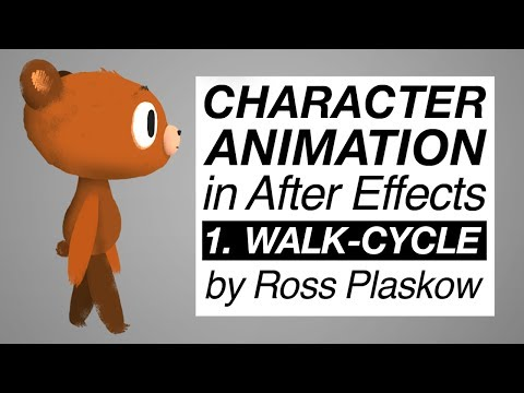 How To Make A Cartoon | Character Animation - After Effects Tutorial [basic Walk-cycle] video