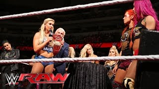 Charlotte honored in the official WWE Women's Championship presentation: Raw, April 4, 2016