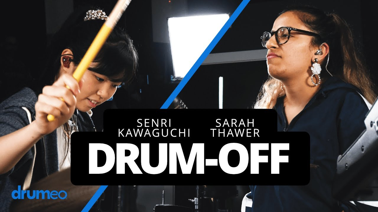 """川口千里 (Senri Kawaguchi) & Sarah Thawer - """"Real Life""""のドラム・デュエット映像を公開中 thm Music info Clip"""