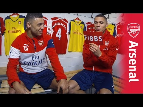 Kieran Fibbs takes on Alex Oxlade-Chamberlain