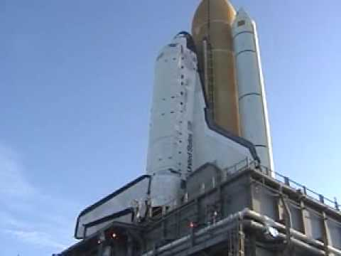Space shuttle Discovery Rolls To Launch Pad For STS-128 Launch