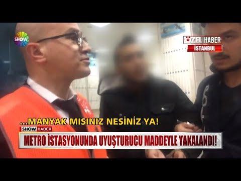 Metro istasyonunda uyuşturucu maddeyle yakalandı!