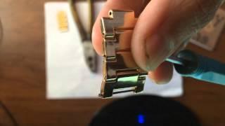 Как уменьшить браслет на часах Curren, снимаем звенья с браслетов мужских часов