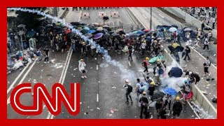 Police fire tear gas on crowds during Hong Kong protests