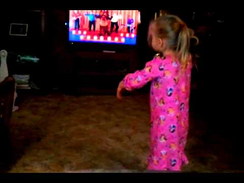 Olivia dancing to The Wiggles