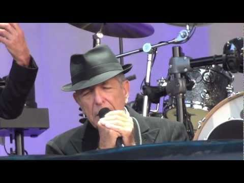 Leonard Cohen sings , Bird on the Wire at the olympic stadium in Amsterdam on August 22nd 2012.