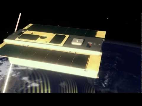 Surrey Satellite Technology's STRaND-1 nanosatellite animation