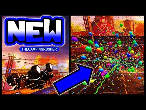 "USING NEW ""PARTY TIME"" BLACK MARKET!! ( Farmstead Map in Rocket League )"