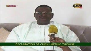 Cheikh Béthio Thioune présente ses excuses