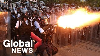 Hong Kong protests erupt into chaos, violence in clash with police
