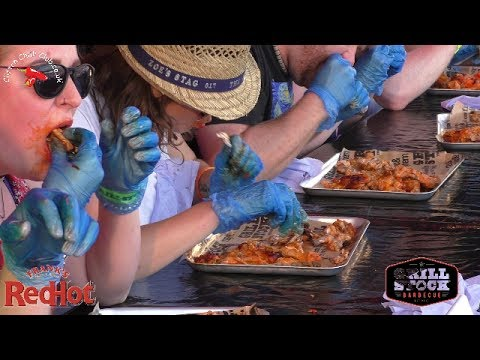 Frank's RedHot Wing Eating Contest Grillstock 1st July 2017