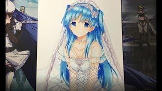 Drawing Chtholly Seniorious (珂朵莉 瑟尼歐里斯) from SukaSuka (終末なにしてますか? 忙しいですか? 救ってもらっていいですか?)