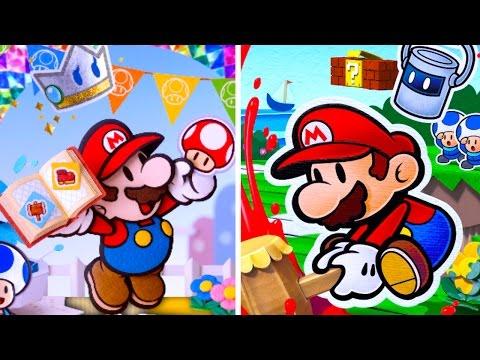 Comparison - Paper Mario Color Splash vs. Sticker Star