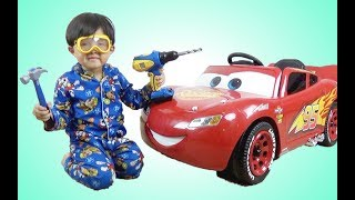 New Disney Cars 3 Lightning McQueen Battery-Powered Ride Car Ride On 6V Test Drive Park Playtime