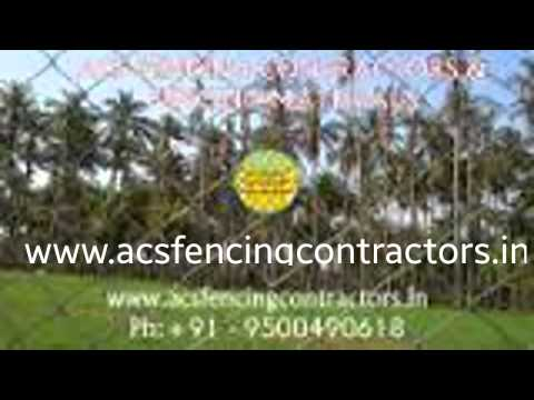 fencing works contractors in chennai coimbatore trichy | fencing works by acs fencing