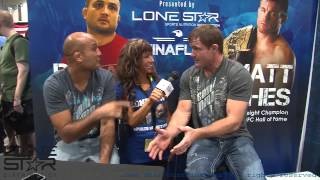 Lone Star Distr Olympia 2013- Matt Hughes & BJ Penn interviews with Tammi Bradford and Rob Sims