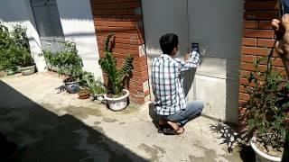 Dựng lại hiện trường vụ án nhảy xe Exciter tại phường Cát Bi, quận Hải An, thành phố Hải Phòng