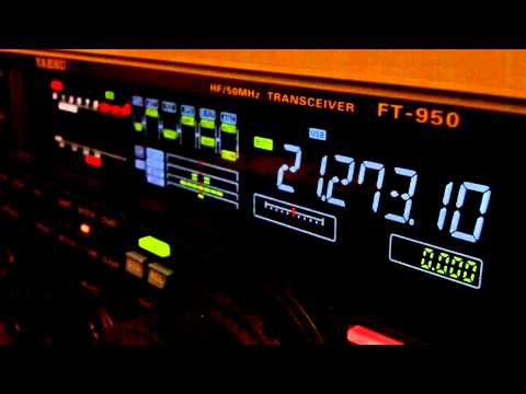 Ham Radio DX QSO HA6NF Yaesu FT-950 15 Meters SSB