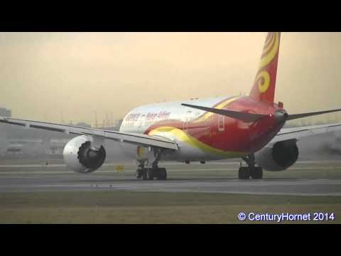 Hainan Airlines Boeing 787-8 Dreamliner Takeoff RWY 23 @ Toronto Pearson Int'l April 21, 2014