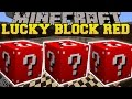 Minecraft: RED LUCKY BLOCK MOD (MORE LUCKY VILLAGERS, LUCKY WELLS, & BLOCK TOWERS!) Mod Showcase