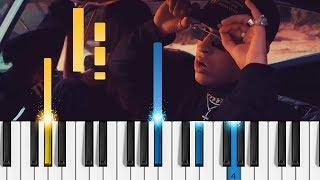 "Download Lagu Bad Bunny - Amorfoda - Piano Tutorial - Como tocar ""Amorfoda"" Gratis STAFABAND"