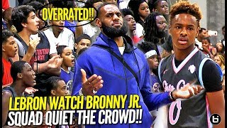 LeBron James Watches Bronny Jr & Squad Respond to OVERRATED Chants! Northcoast Blue Chips TOO OP!!