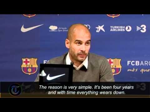 Pep Guardiola quits as Barcelona manager: I am worn down, I need a break