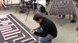 Micromouse GreenGiant 4.2 at 2015 IEEE region 6 southern area Micromouse Competition(2 cam in 1)