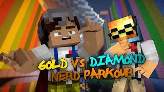 Minecraft Parkour | NERD PARKOUR | Gold VS Diamond 4 Parkour (Minecraft Parkour Map)