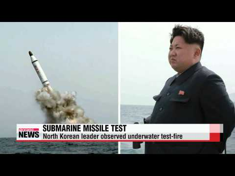 North Korea test-fires submarine ballistic missile   북한 ″전략잠수함 탄도탄 시험발사 성공&