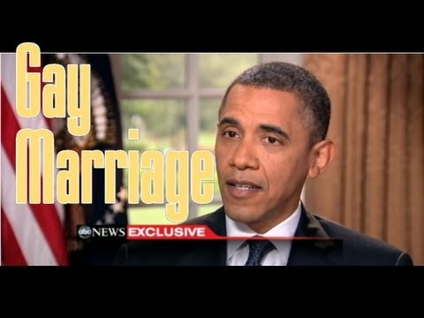 President Obama SUPPORTS GAY MARRIAGE! BREAKING NEWS: It is now CONFIRMED!