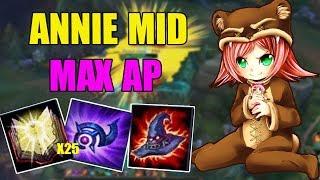 ANNIE MID - Q + W THÔI LÀ ĐỦ - Cách chơi và lên đồ - Liên Minh Huyền Thoại