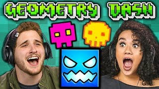 THIS IS IMPOSSIBLE! | GEOMETRY DASH (Adults React: Gaming)
