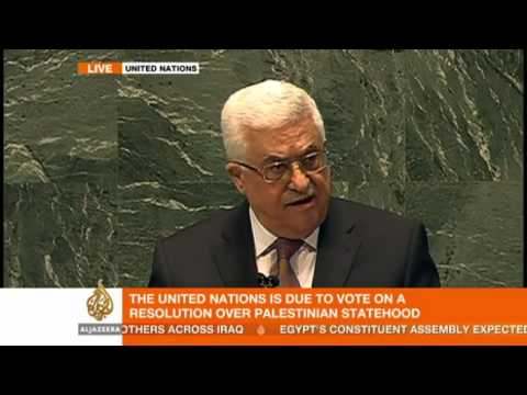 Loud cheers as PA Pres. Abbas addresses the UN